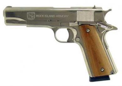 Rock Island Armory 1911 GI Nickel 38 Super